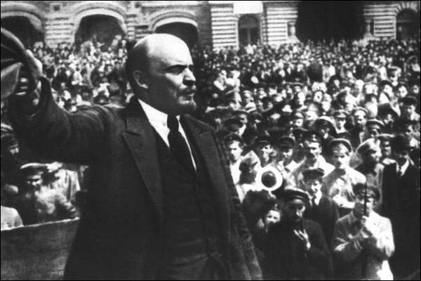 Lenin en discurso